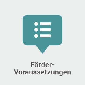 "Kachel mit Text ""Fördervoraussetzungen"""